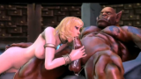 3D Gigantic Orc Fucks blonde loli