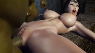 Ritual orc 3D hentai girl